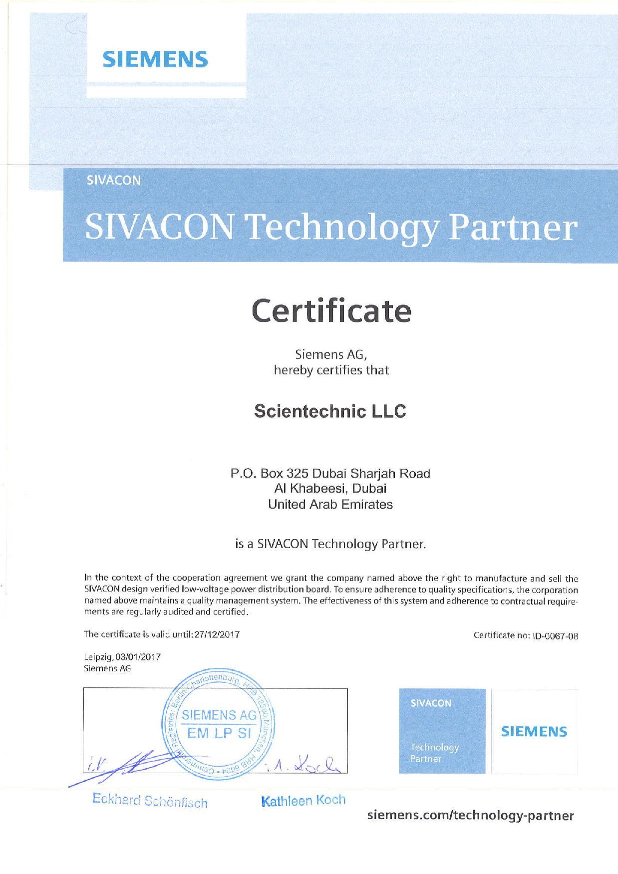 Certifications Energy Management