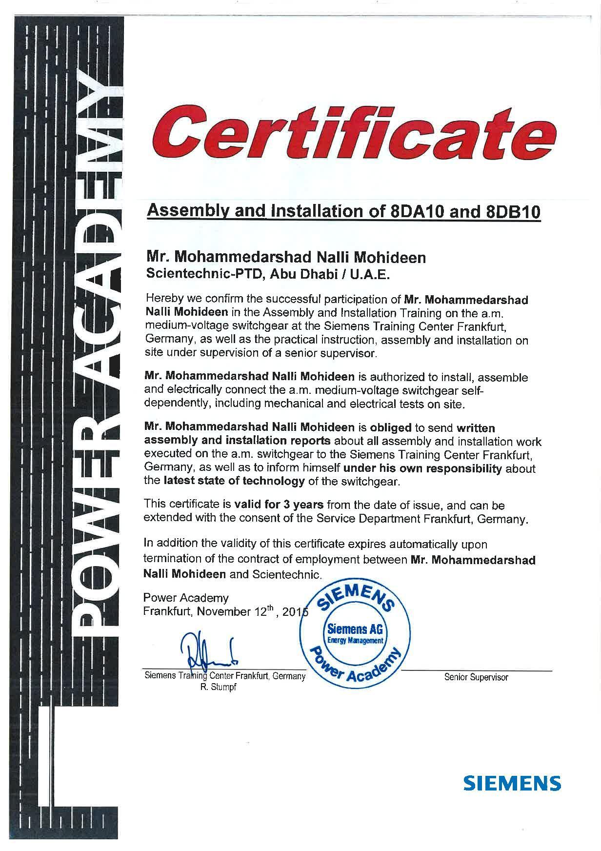 Certifications | Energy Management